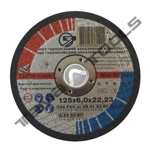 Круг отрезной по металлу 115x2,0x22,2 ЗАК армированный для УШМ