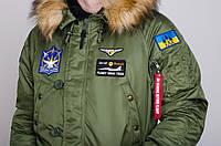Парка Olymp - Аляска N-3B Куртка мужская зимняя с нашивками, патчи
