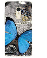 Бампер силиконовый чехол с принтом для Xiaomi Redmi Note 4x Бабочка