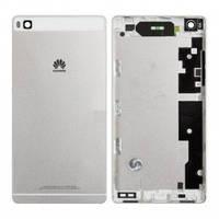 Задняя крышка Huawei P8 (GRA L09), серебристо-белая, оригинал (Китай)