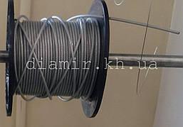 Трос стальной ПВХ прозр 2/3 мм 6х7 + 1FC цб с органической сердцевиной DIN 3055