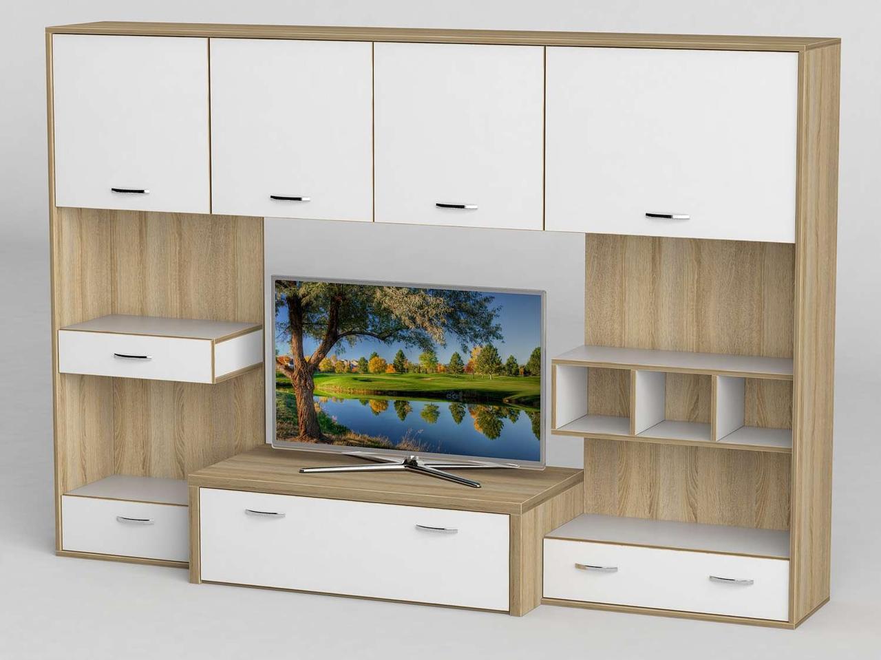 Стінка для вітальні з ДСП/МДФ (вітальня стінка) - 104 Тіса меблі