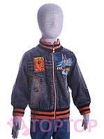 Куртка джинсовая, оранжевая (4-6 лет)