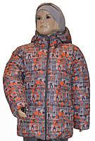 Детская зимняя курточка для мальчика скейт