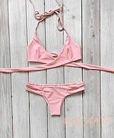 Купальник раздельный розовый