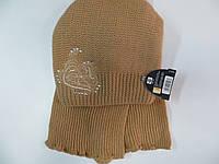 Шапка с шарфом для девочек (Польша)