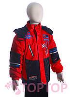 Куртка с капюшоном, красная (6-8 лет)