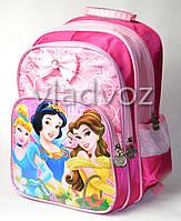 Школьный рюкзак для девочек Princess принцессы бантик розовый