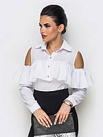 Стильна офісна біла блузка Iren