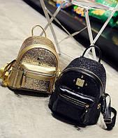 Рюкзак с блестками и заклепками