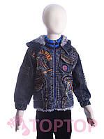Куртка джинсовая на меху (4-6 лет), фото 1
