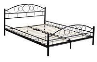 Кровать металлическая 160х200 двуспальная черная + Ламели АКЦИЯ ПОЛЬША в наличии НАЛОЖКА