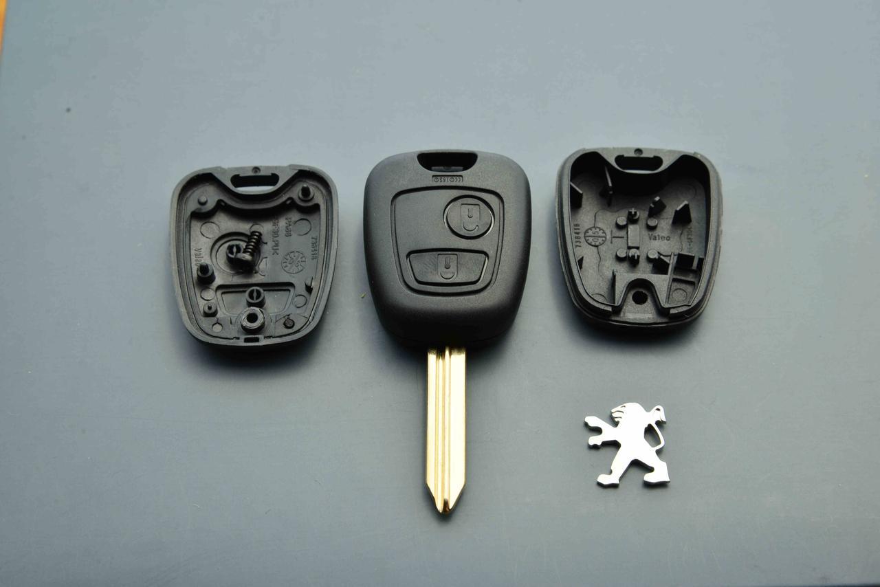 Корпус ключа для Peugeot Partner (Пежо Партнер) 2 - кнопки, лезвие SX 9