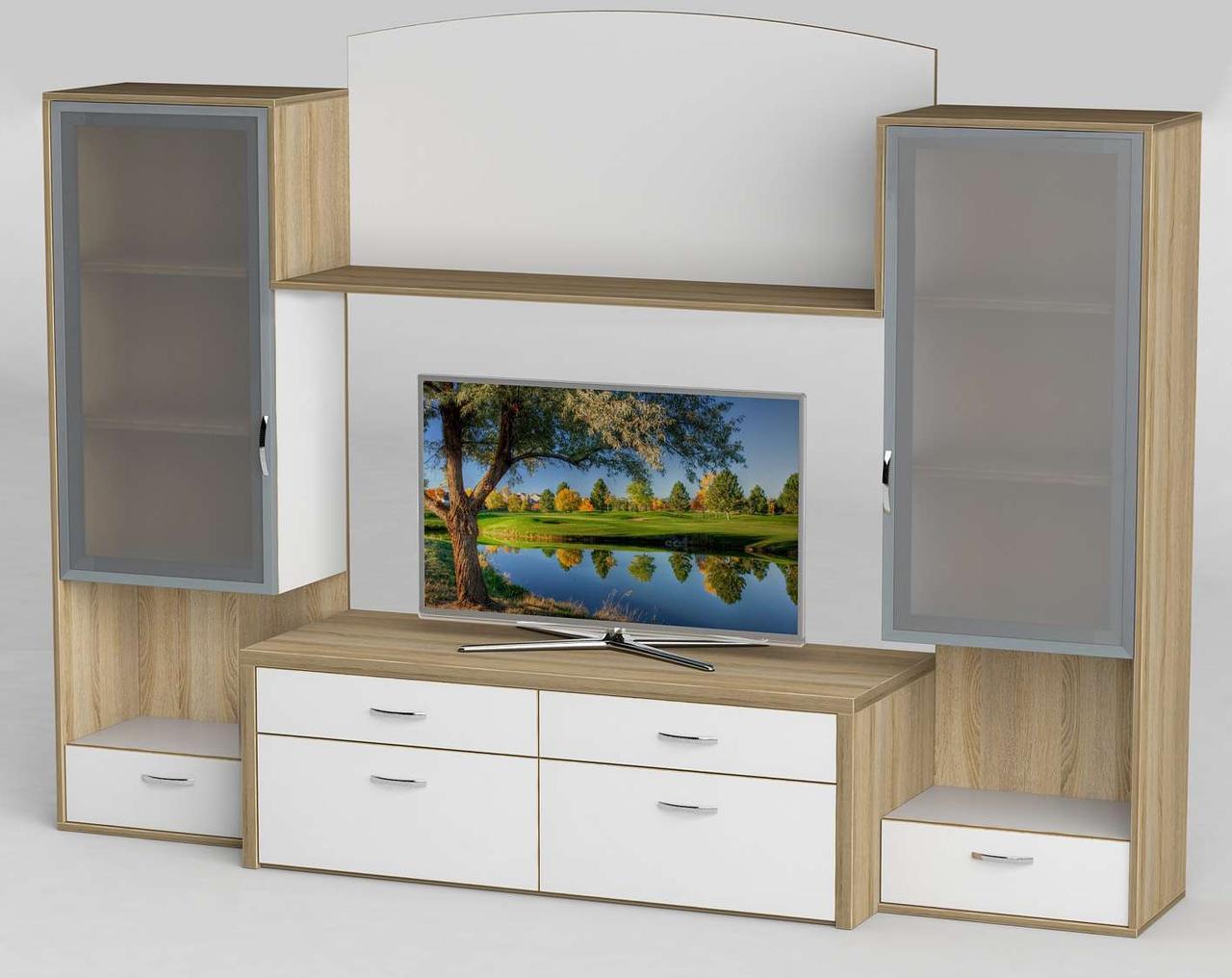 Стінка для вітальні з ДСП/МДФ (гостиная стенка) - 110 Тіса меблі