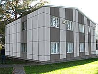 Фасадное остекление витрин магазинов стоечно-ригельной профильной системой Алютех ALT F50