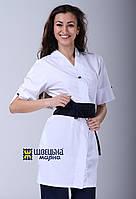 АКЦИЯ! Медицинский халат кимоно+ПОДАРОК шапочка