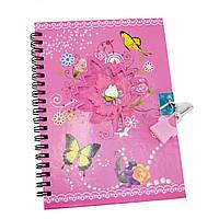 Блокнот для девочек с замочком розовый