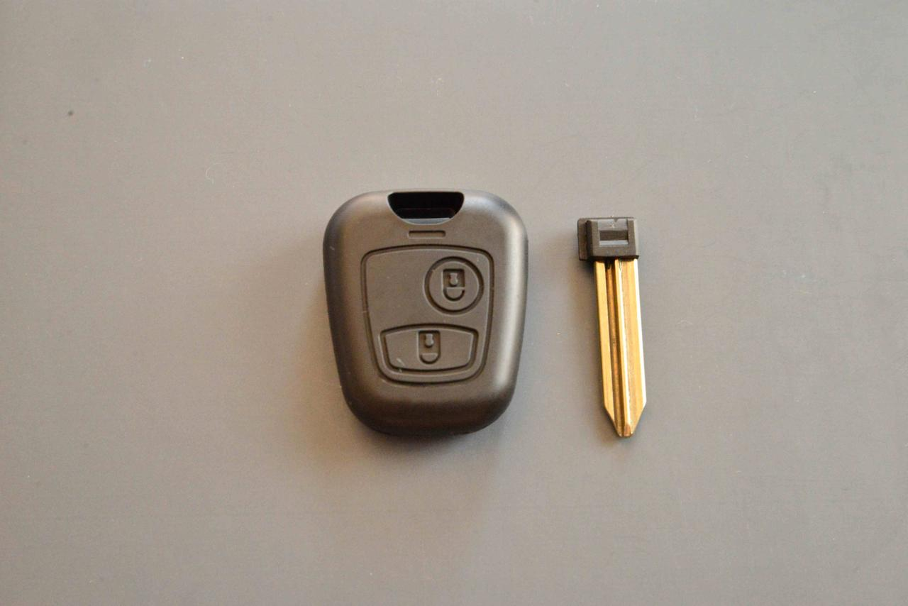 Корпус ключа для Peugeot Partner (Пежо Партнер) 2 кнопки, с лезвием SX9