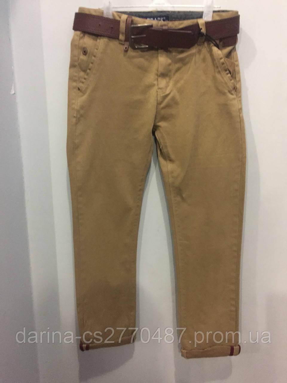 Подростковые коттоновые брюки 134,164 см