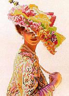 Схема для вышивки бисером POINT ART Дама в шляпе, размер 20х28 см