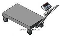 Тележка с весами BDU150-0508 В-В бюджет 500х800 мм (до 150 кг)