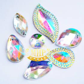 Стразы цвета crystal ab (хамелеоны)