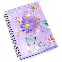 Блокнот для девочек с замочком фиолетовый