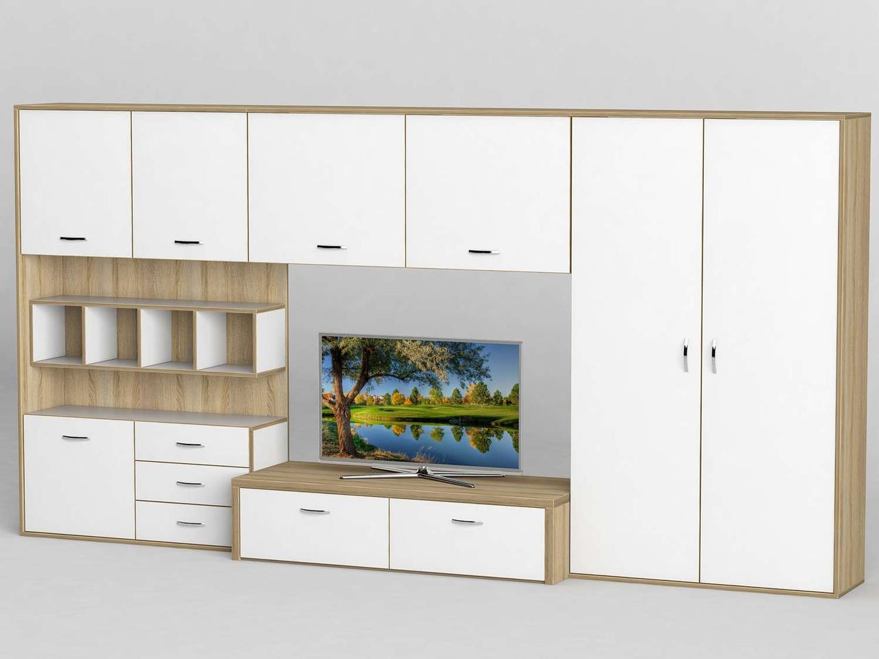 Стінка для вітальні з ДСП/МДФ (гостиная стенка) - 118 Тіса меблі