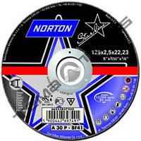 Круги отрезные по металлу Norton STARLINE 125 x 1.0 x 22.23