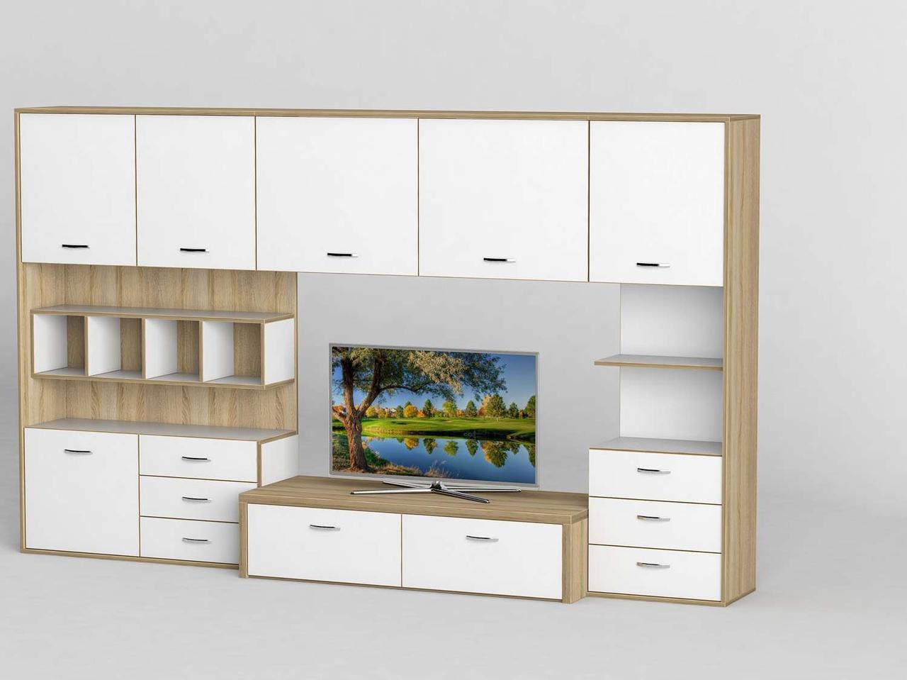Стінка для вітальні з ДСП/МДФ (гостиная стенка) - 119 Тіса меблі
