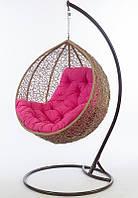 Круглое плетеное кресло качеля Ларди