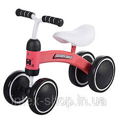 Детский беговел 859-3 , 4 колеса, коженое сиденье.