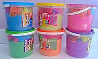 Кинетический песок В ведре 1 кг+8 форм KS-01-01 Danko-Toys Украина