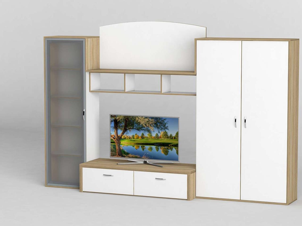 Стінка для вітальні з ДСП/МДФ (гостиная стенка) - 120 Тіса меблі