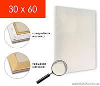 Холст на подрамнике, для живописи и рисования, 30х60см