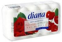 "Туалетное мыло Dalan ""Diana Flovers&Fruits"" Роза и вишня 5*75гр"