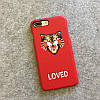 """Iphone 7 / 7 PLUS кожаный чехол панель накладка НАТУРАЛЬНАЯ КОЖА логотип тигр GUCCI """", фото 6"""