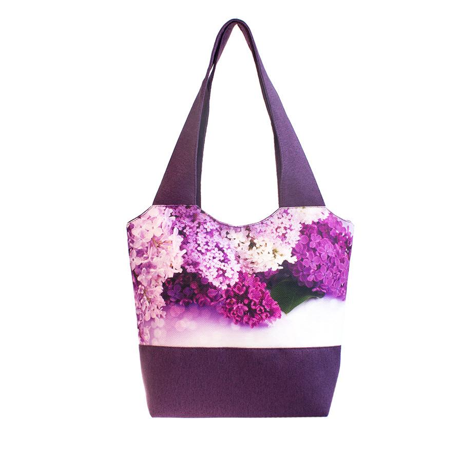 f012c74a1967 Модная текстильная женская сумка Сирень на фиолетовом - Boom-torg в Одессе