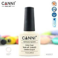 Гель-лак Canni прозрачный с мелкими серебряными блестками №7