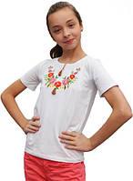 Вышитая футболка для девочки, фото 1