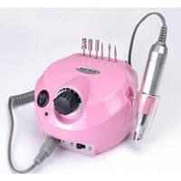 Фрезер аппарат для маникюра, педикюра и наращивания ногтей. Nail Drill ZS-60. Розовый