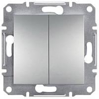 Двухклавишный выключатель IP20 Asfora бронза