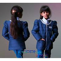 Детская куртка без воротника демисезон на синтепоне для девочки S-Style