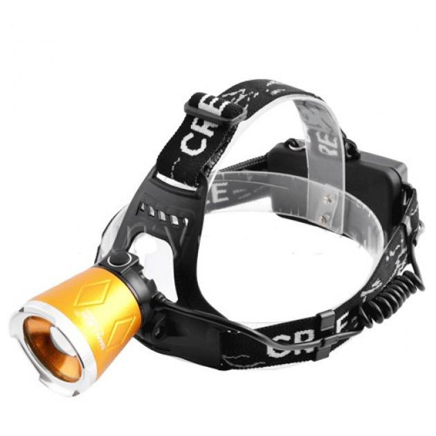 Ультрафиолетовый фонарь налобный Small Sun UV5866A + диод T6