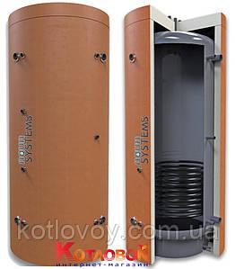 Буферная ёмкость (теплоаккумулятор) AquaSystems серии AQS-T1SS с нижним теплообменником из нержавейк