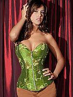 Красивый зеленый корсет на молнии