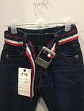 Детские джинсы с ремнем на мальчика 104,110,116 см, фото 5