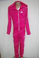 """Красивый детский трикотажный спортивный костюм """"Adidas"""" для девочки розовый"""