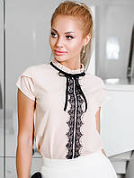 Молодіжна кремова блузка Kira (XS, S, M, L, XL)