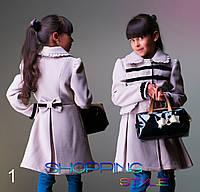 """Кашемировое пальто """"Бархатный бантик"""" кашемир на подкладе,для девочки S-Style"""